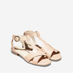 Cole Haan Leela Sandals - Strappy Leather Flats